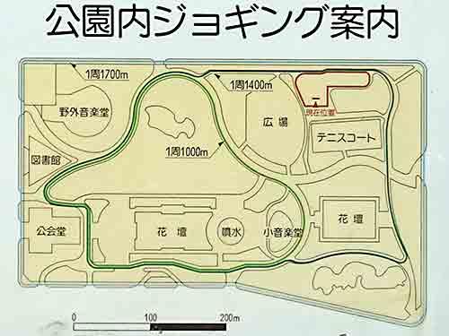 日比谷公園ランニングコース地図